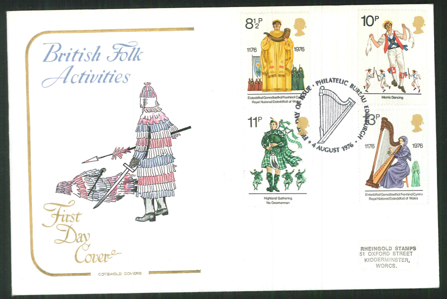 1976 Cotswold Culture FDC Phil Bureau Edinburgh Postmark - Click Image to Close