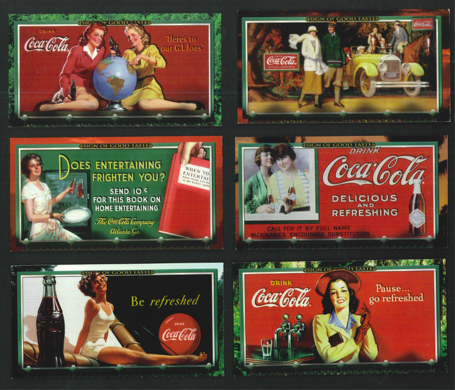 """Coca Cola 'Sign of Good Taste' Trading Card WideVision set, by Collect-A-Card"