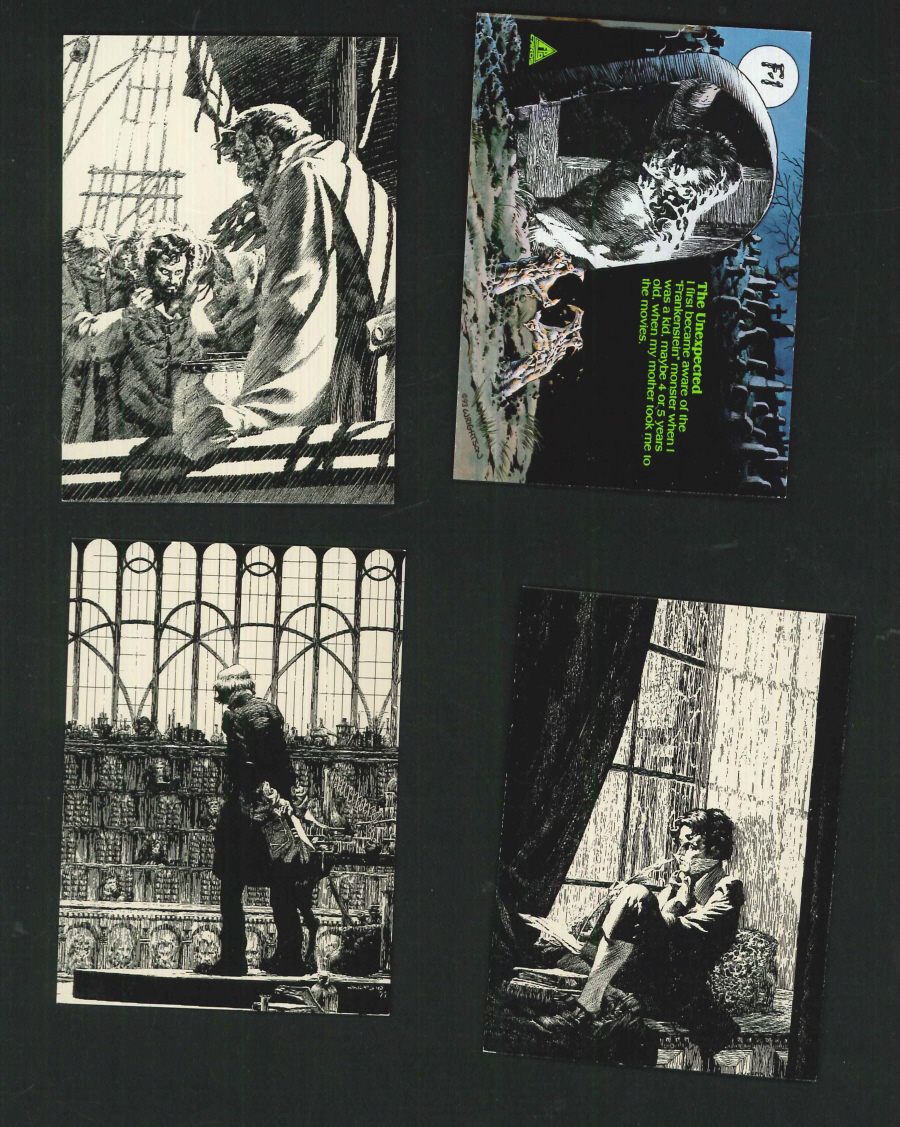 """Bernie Wrightson Series 1 Master of Macabre - Frankenstein (F) Cards"" Trading Card set, by FPG"