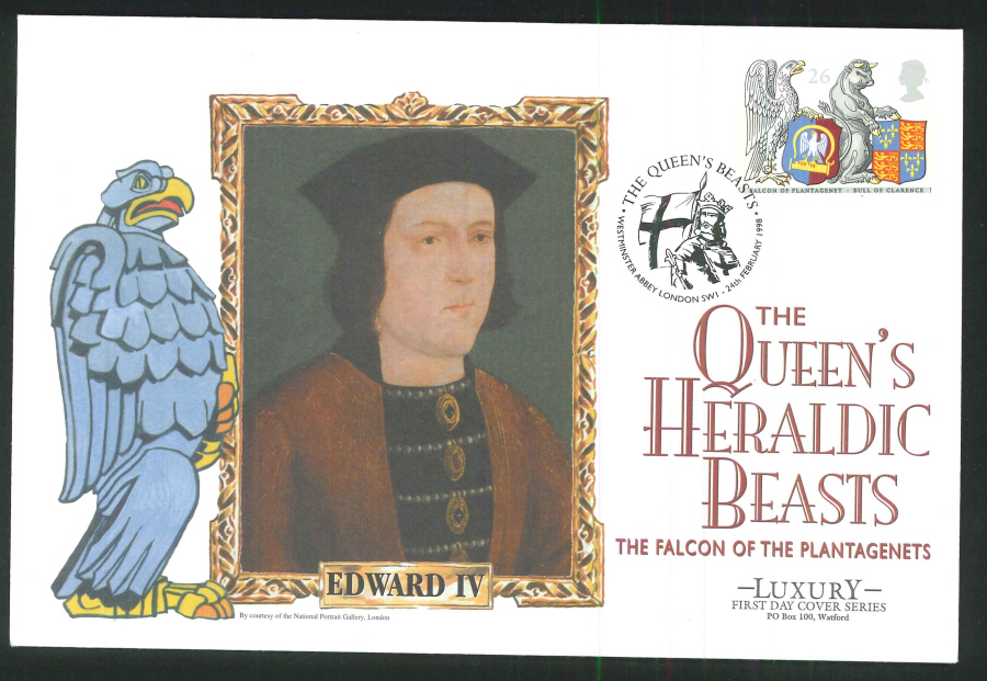 1998 - Queen's Heraldic Beasts, Set of 5 First Day Covers - Westminster Abbey Postmark