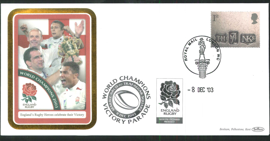 2003 - Rugby World Champions Commemorative Cover - London WC Postmark