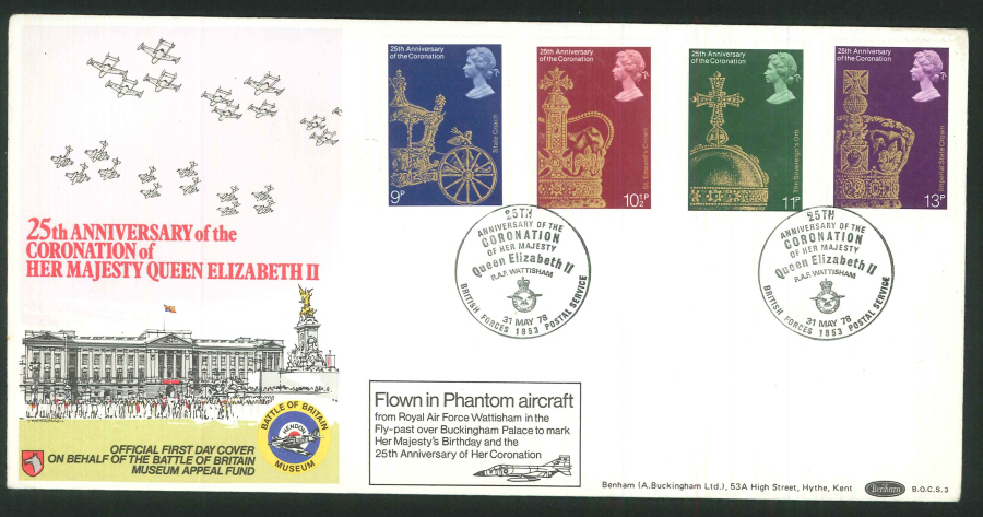 1978 - 25th Anniversary of Coronation First Day Cover - BF1953PS Postmark