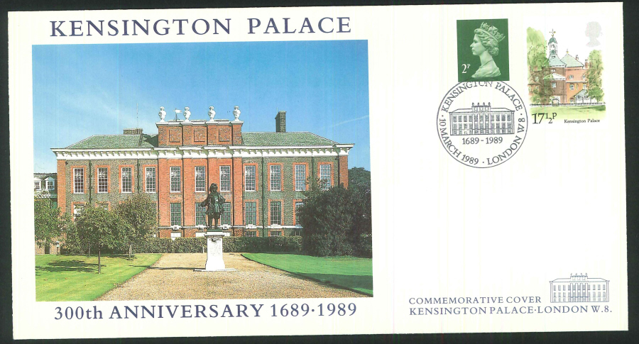 1989 - Kensington Palace Commemorative Cover - Kensington Palace Postmark