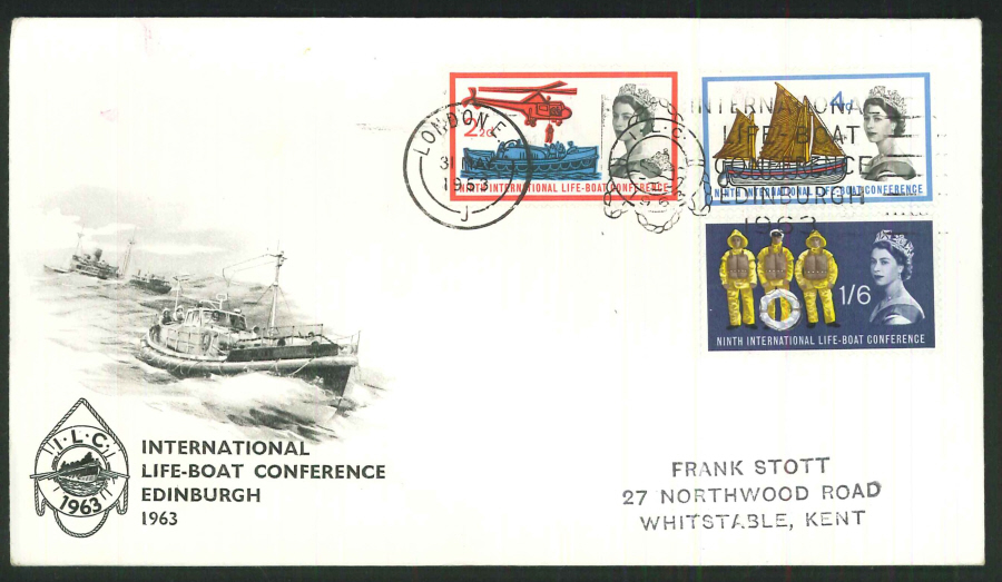 1963 - Lifeboat Conference First Day Cover - London EC Postmark