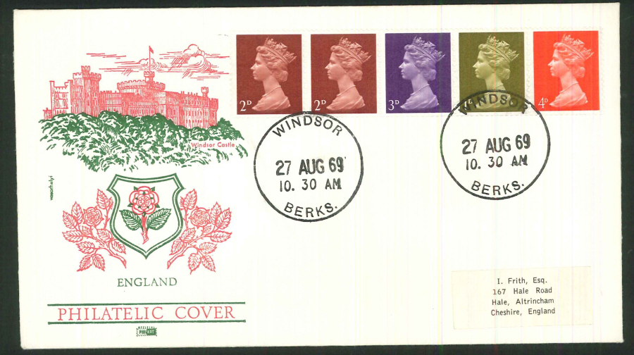 1969 - Definitve Se-Tenant Coil Stamps - Philart First Day Cover - Windsor Postmark