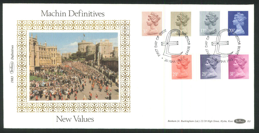 1983 - Machin Definitives First Day Cover- Windsor Postmark