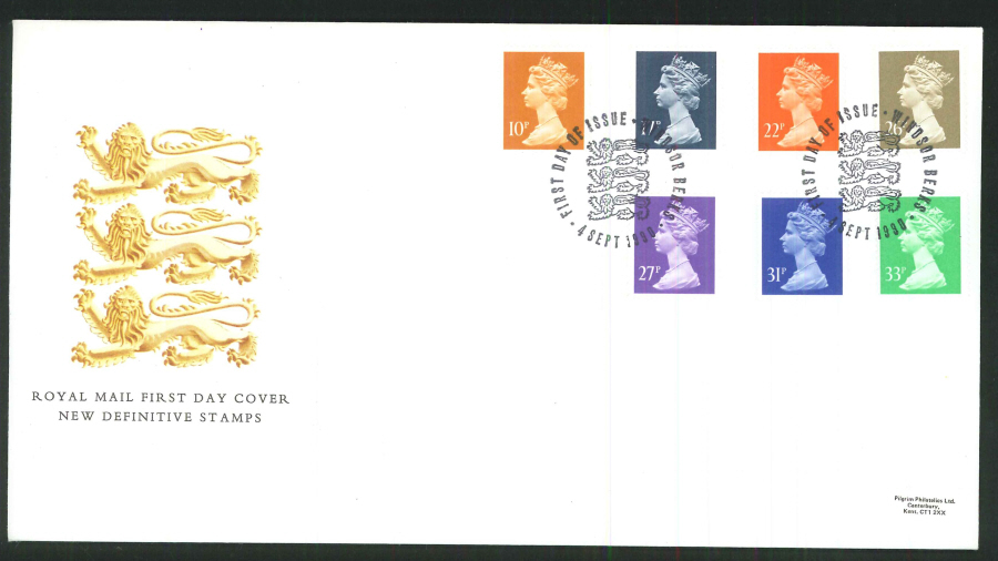 1990 - New Definitive Stamps First Day Cover- Windsor Postmark