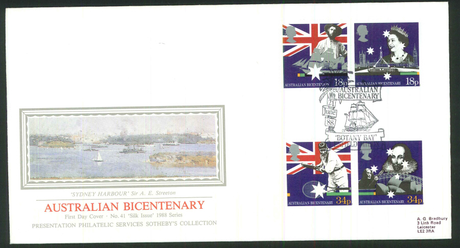 1988 - Australian Bicentenary First Day Cover - Botany Bay, Enfield Postmark