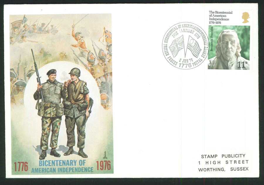 1976 - USA Bicentenary First Day Cover - BF1776PS Postmark