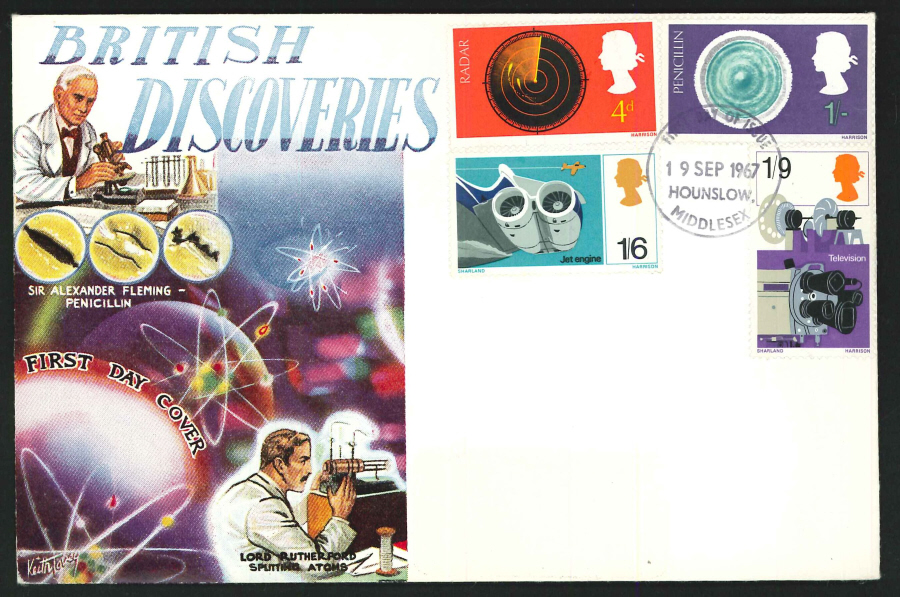 1967 - British Discoveries First Day Cover - Hounslow Postmark