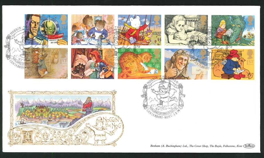 1994 - Benham Greetings First Day Cover - Noggin the Nog, Canterbury Postmark