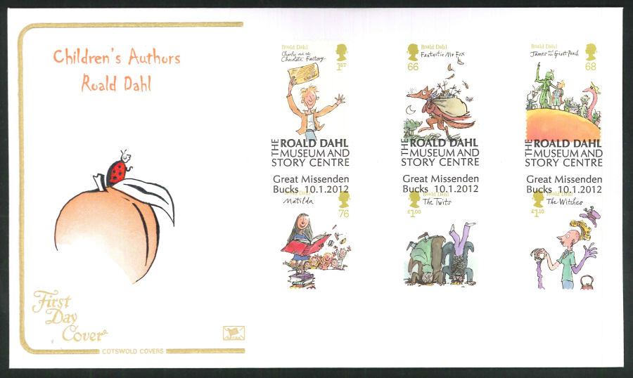 2012 - Children's Authors Roald Dahl - FDC - The Roald Dahl Museum and Story Centre, Great Missenden, Bucks Postmark