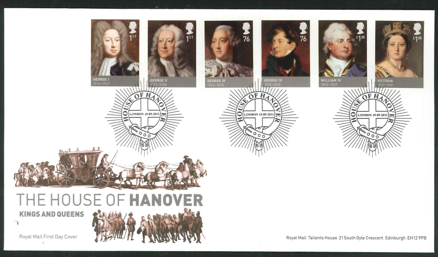 2011 The House of Hanover Royal Mail First Day Cover - House of Hanover London Postmark