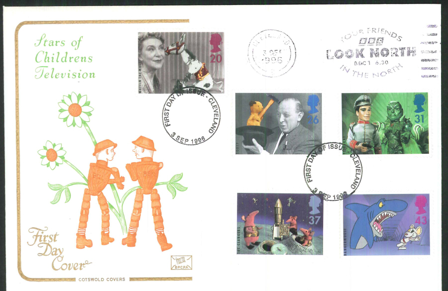 1996 - Children's Television Cotswold BBC Look North Slogan FDC Postmark