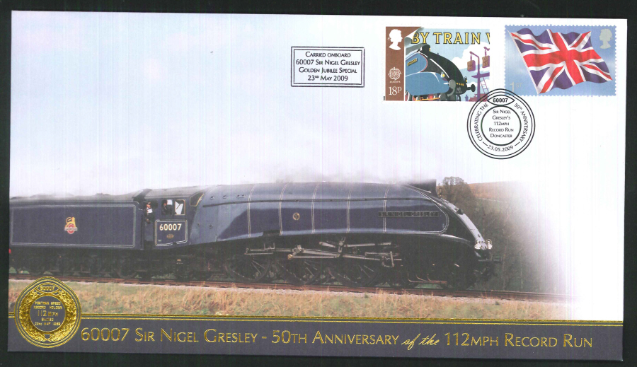 2009-Buckingham-Railway- Sir Nigel Gresley - 50th anniversary Postmark