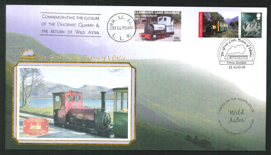 2009-Buckingham-Railway- Great Little Trains of Wales Tywyn Postmark