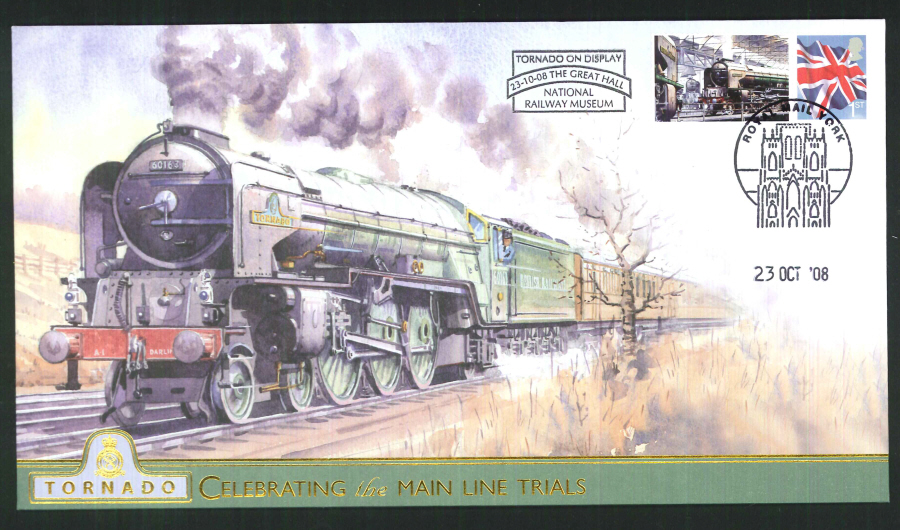 2008-Buckingham-Railway- Tornado on Display National Railway Museum Postmark