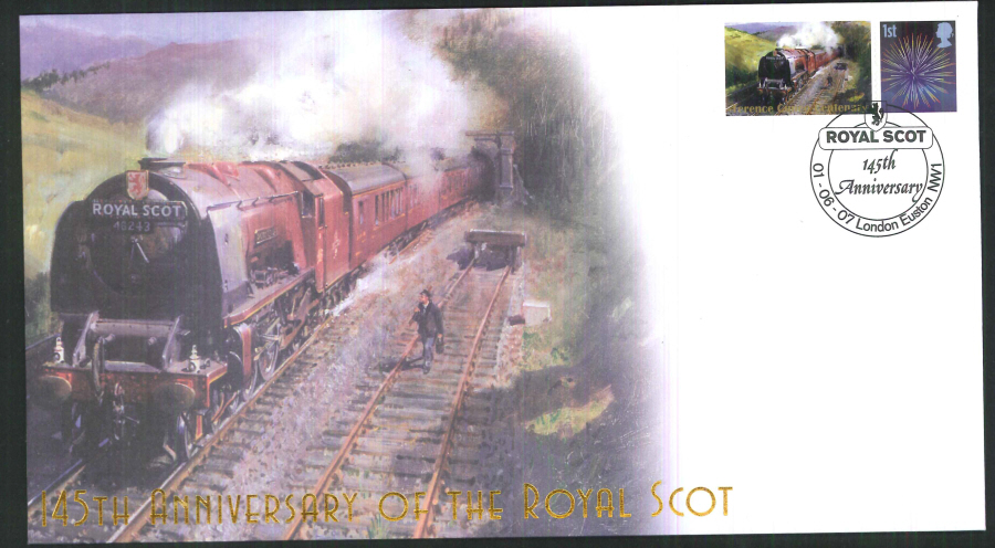 2007-Buckingham-Railway-145th anniversary of the Royal Scot Postmark