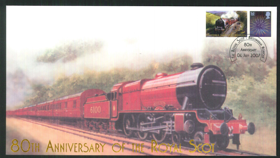 2007-Buckingham-Railway-80th anniversary of the Royal Scot Postmark