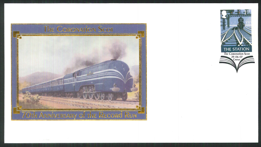 2007-Buckingham-Railway-70th Anniversary of the LMS Coronation Scot Postmark