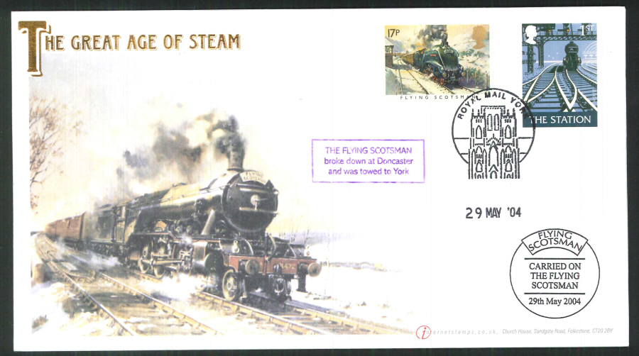 2004-Buckingham-Railway-70th anniversary of the Flying Scotsman Postmark