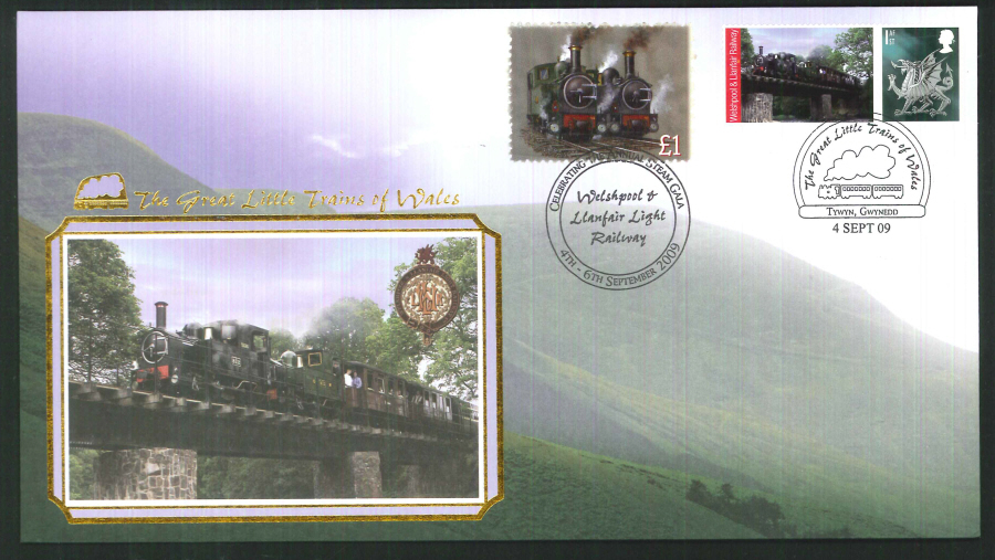 2009-Buckingham-Railway- Welshpool & LLanfair Annual Steam Gala Postmark