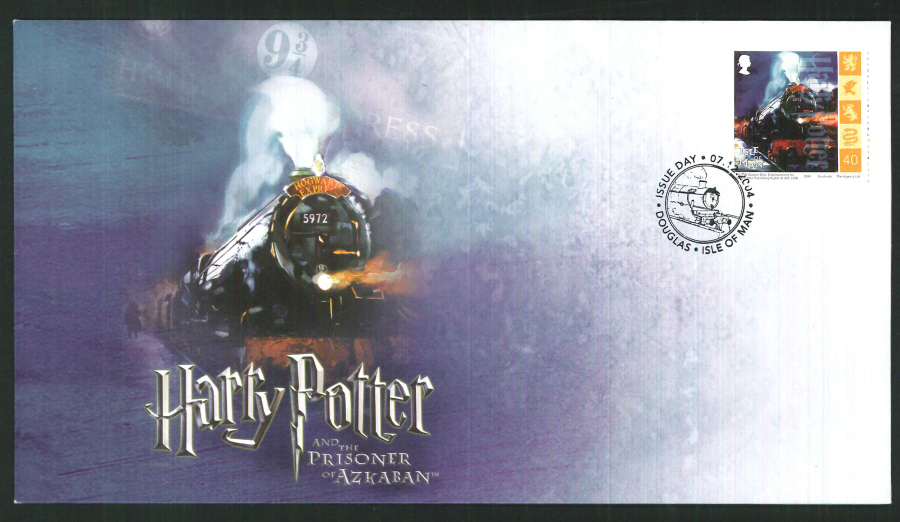 2004-Buckingham-Railway-Harry Potter Isle of Man single stamp cover
