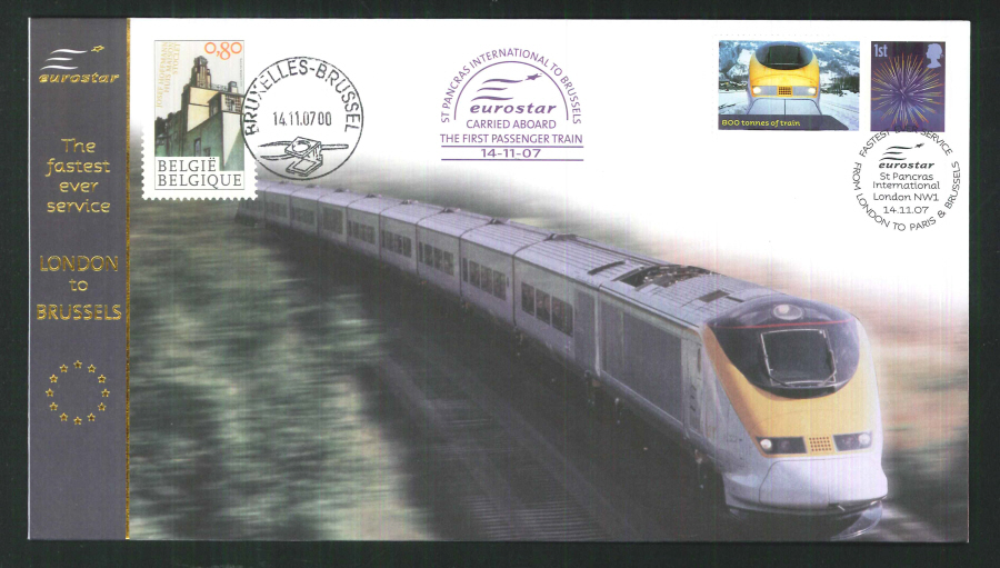 2007-Buckingham-First Eurostar - St Pancras to Brussels