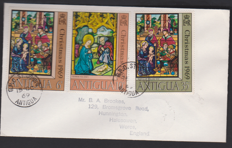 1969 Antigua First Day Cover Christmas