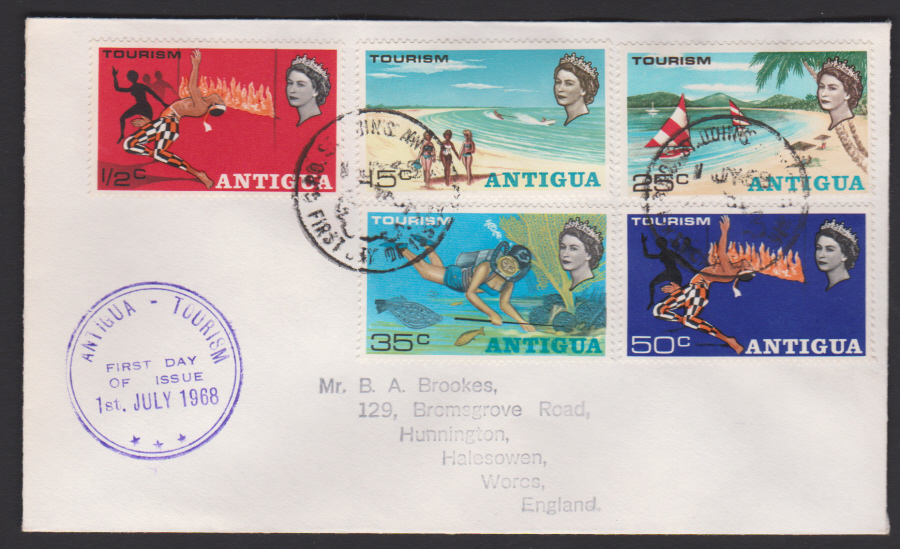 1968 Antigua First Day Cover Tourism