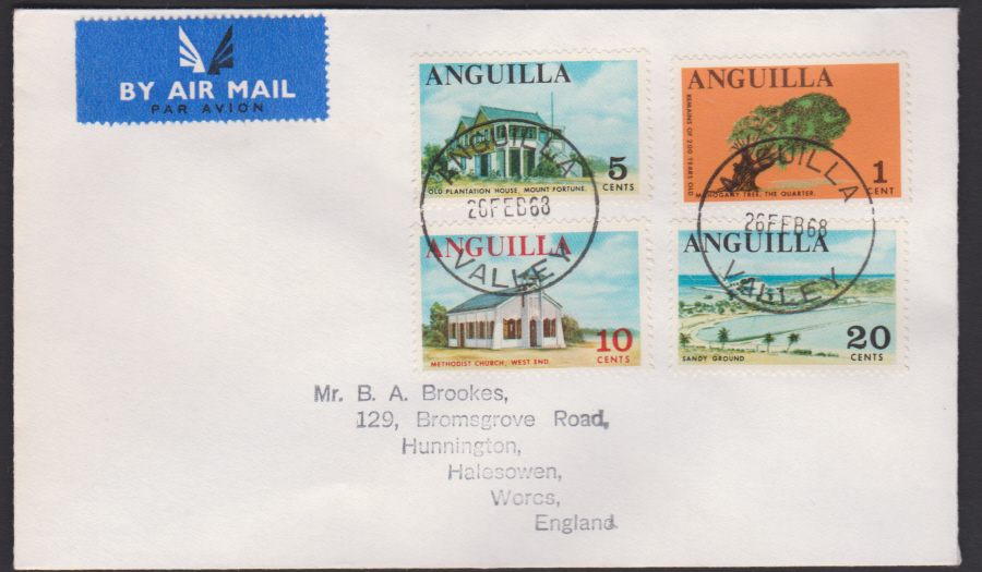 1968 Anguilla First Day Cover Buildings - Click Image to Close