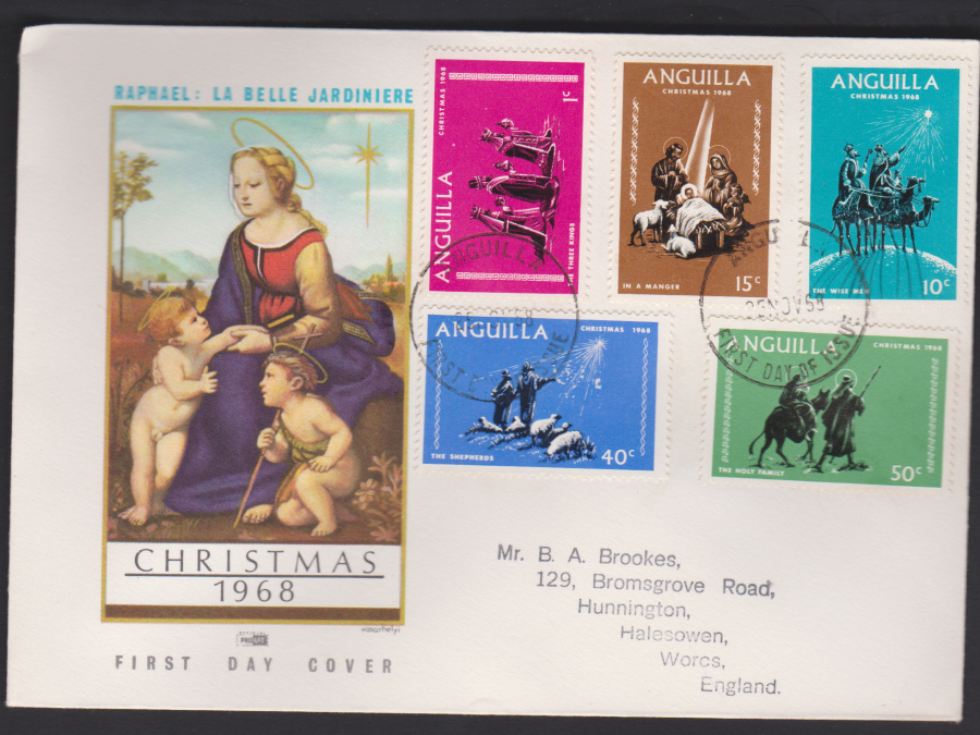 1968 Anguilla First Day Cover Christmas