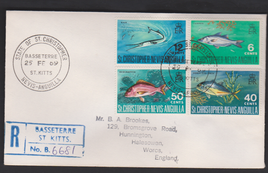 1969 St Christopher- Nevis- Anguilla Fish