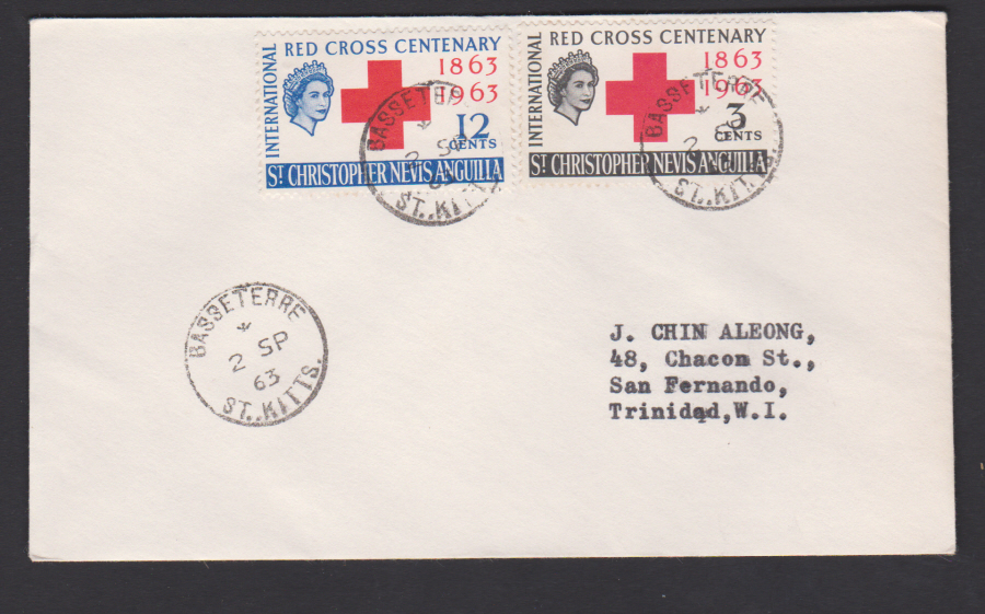 1963 St Christopher- Nevis- Anguilla Red Cross - Click Image to Close