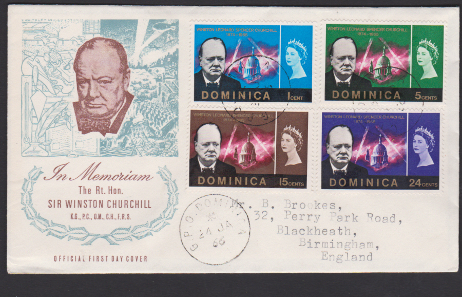 1966 Dominica FDC Winston Churchill