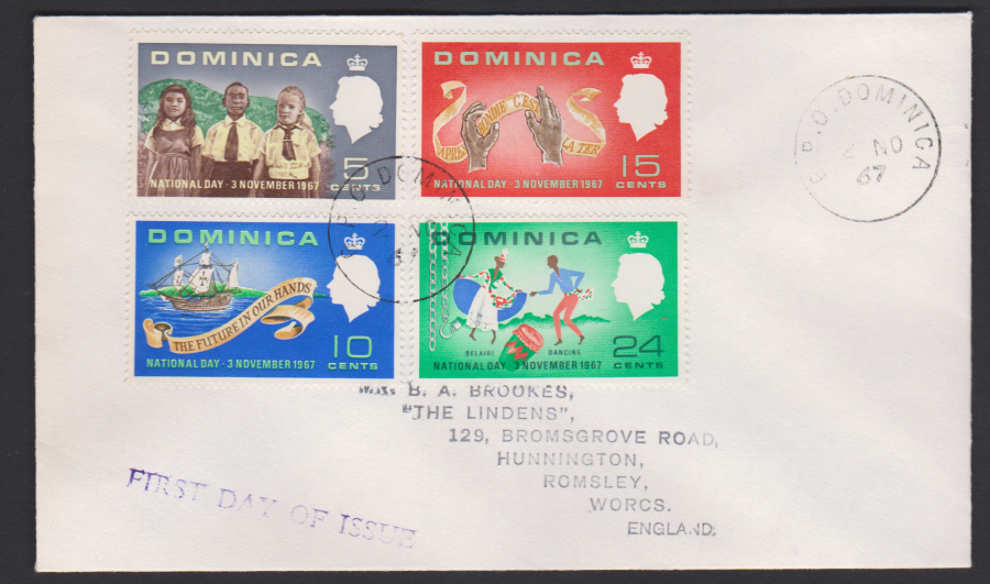 1967 Dominica FDC National Day