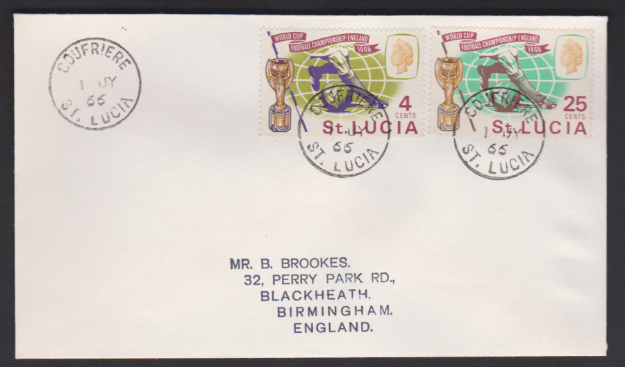 1966 St Lucia FDC Football World Cup
