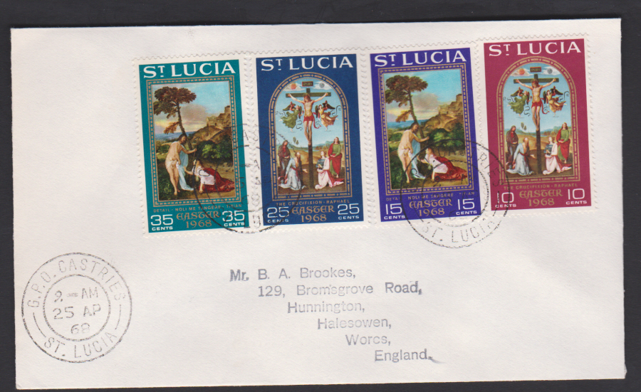 1969 St Lucia FDC Easter