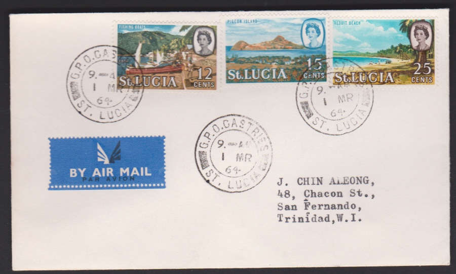 1964 St Lucia FDC part of QEll Set