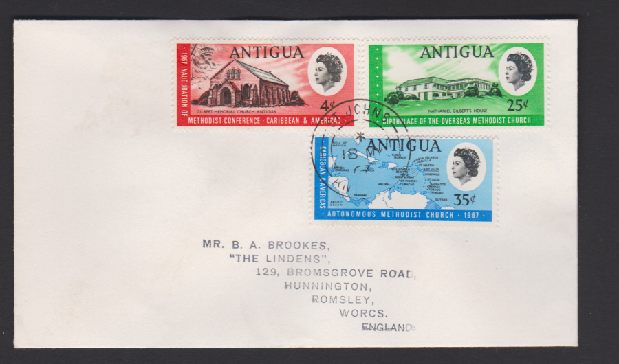 1967 Antigua FDC Methodist Church
