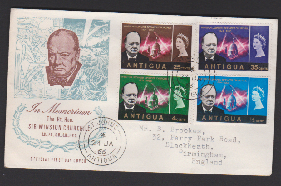 1966 Antigua FDC Winston Churchill