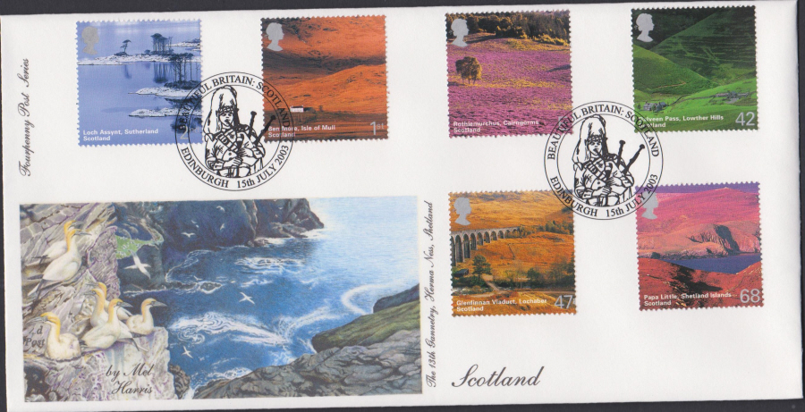 2003 - Scotland FDC 4d Post -Edinburgh Postmark