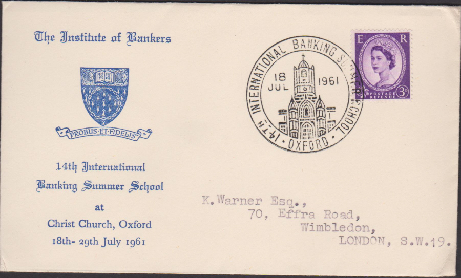 1961 Institute of Bankers Summer School,Oxford Cover