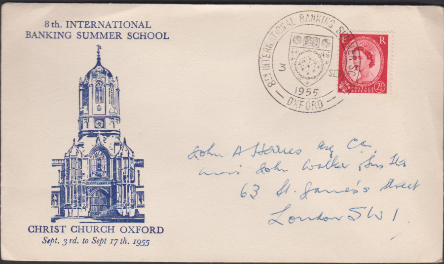 1955 Institute of Bankers Summer School,Oxford Cover