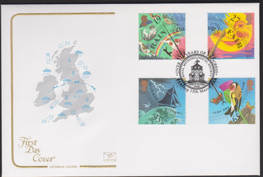 2001 -The Weather FDC Cotswold - 150 Years of Progress Reading Postmark