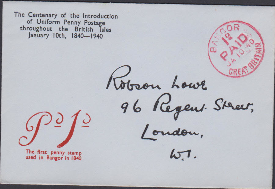 1940 - Robson Lowe Uniform Penny Post Cover Andover,Hants