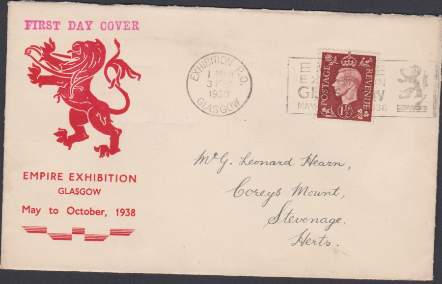1938 Empire Exhibition Glasgow Cover Exhibition P O Slogan