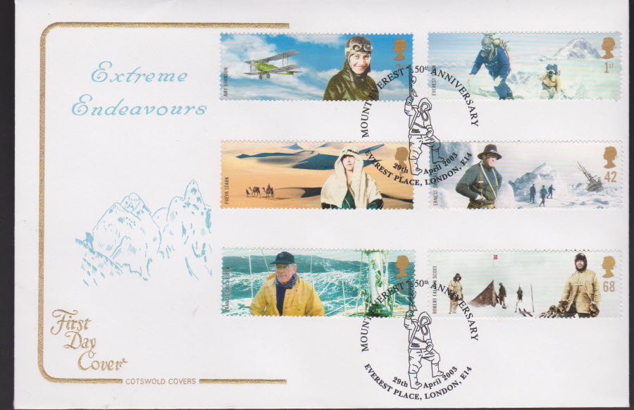 2003 - Extreme Endeavors COTSWOLD FDC Everest Place Postmark