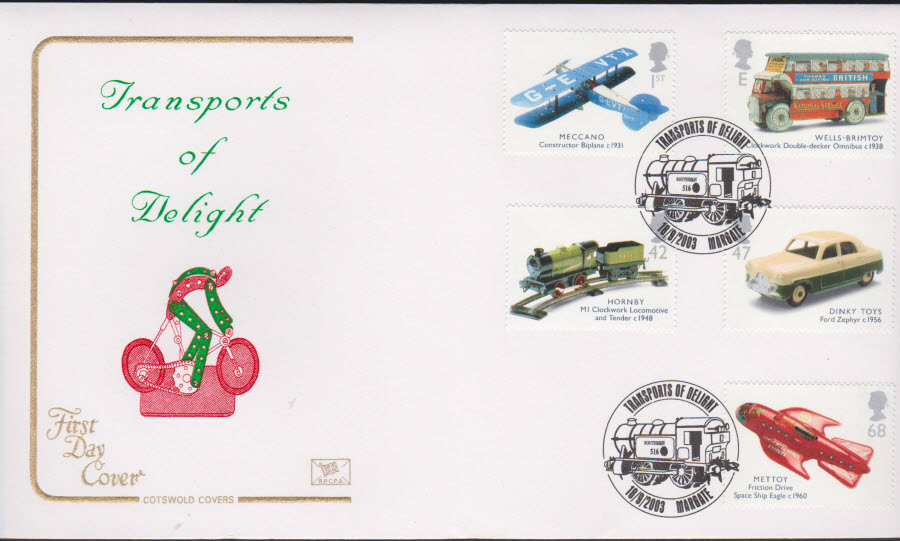 2003 - Transports of Delight COTSWOLD FDC Margate Postmark