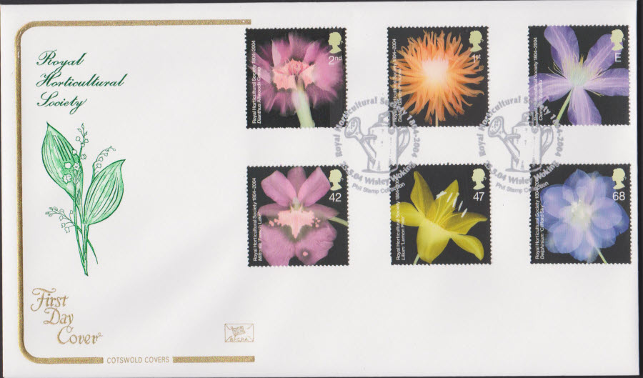 2004 - Royal Horticultural Society COTSWOLD FDC Wisley Woking Postmark